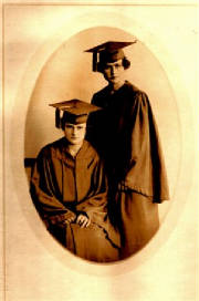 Graduation picture Margaret and Lulu 1918